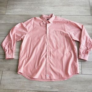 Vineyard Vines Murray Shirt Orange & White Striped